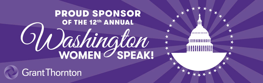 Proud Sponsor of Washington Women Speak
